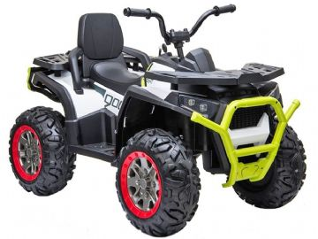 Desert ATV 12v Electric Ride On Toy Quad Bike White with Parental Control